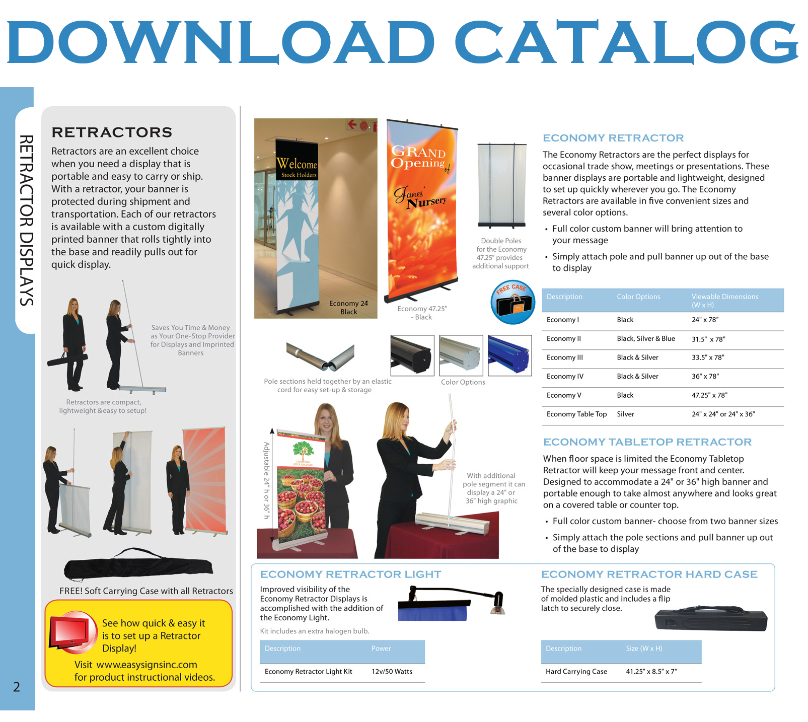 download catalog Banner Stands Banner, Poster, canvas printing